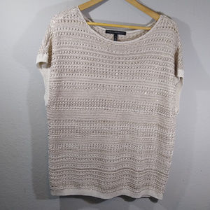 White House Black Market Sparkly Open Knit Sweater